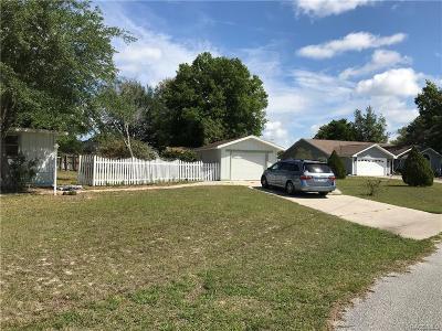 Homosassa Single Family Home For Sale: 3660 S Springbreeze Way
