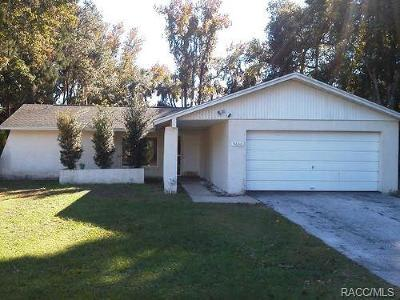 Crystal River Single Family Home For Sale: 9600 W Plantation Lane