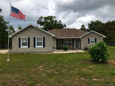 Levy County Single Family Home For Sale: 11631 SE 195th Place