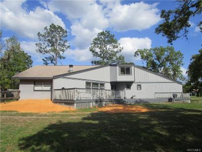 Homosassa Single Family Home For Sale: 5680 W Nobis Circle
