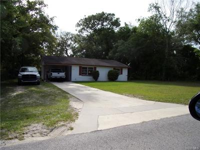 Crystal River Single Family Home For Sale: 1272 N Merlin Terrace