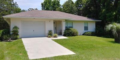 Citrus County Single Family Home For Sale: 2295 S Todd Point