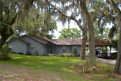 Citrus County Single Family Home For Sale: 9961 W Riverwood Drive