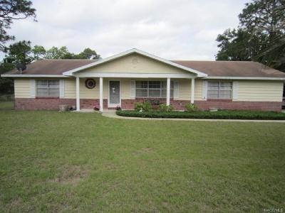 Inverness Single Family Home For Sale: 5640 S Kline Terrace