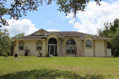 Hernando FL Single Family Home For Sale: $278,000