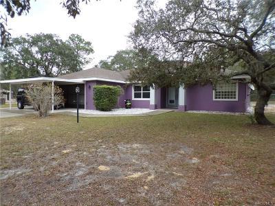 Homosassa Single Family Home For Sale: 2417 S Coleman Avenue
