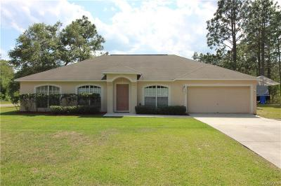Citrus Springs Single Family Home For Sale: 9536 N Old Mill Way