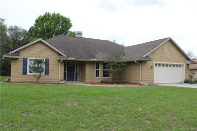 Crystal River Single Family Home For Sale: 5524 W Woodside Drive