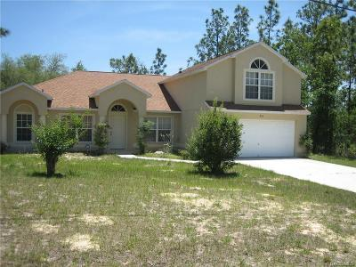 Citrus Springs Single Family Home For Sale: 896 W Smallman Place