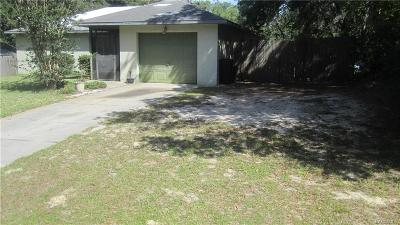Citrus Springs Single Family Home For Sale: 991 W Geneva Place