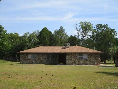 Homosassa Single Family Home For Sale: 6205 W Oaklawn Street