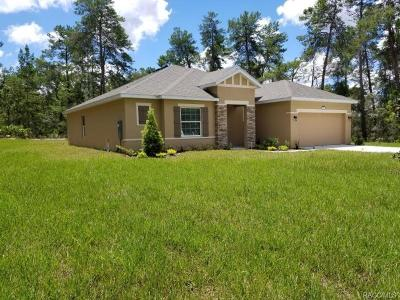 Sugarmill Woods Single Family Home For Sale: 1 Greenpark Boulevard