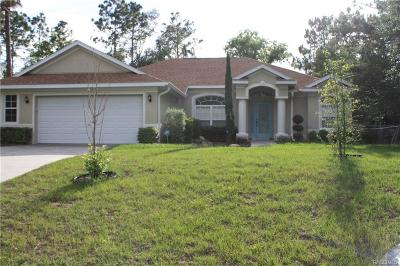 Citrus Springs FL Single Family Home For Sale: $185,000