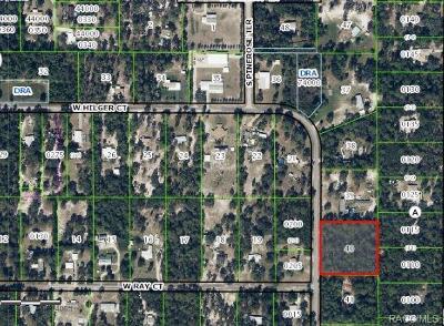 Citrus County Residential Lots & Land For Sale: 2443 S Pine Ridge Avenue