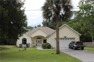 Homosassa Single Family Home For Sale: 3241 S Canadian Way