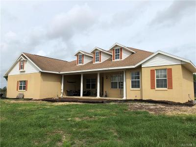 Dunnellon Single Family Home For Sale: 5291 W Disney Lane