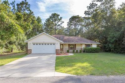 Citrus Springs Single Family Home For Sale: 9220 N Peachtree Way