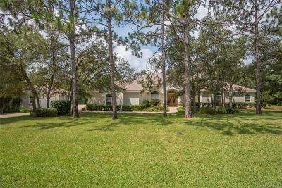 Citrus County Single Family Home For Sale: 2058 W Tall Oaks Drive