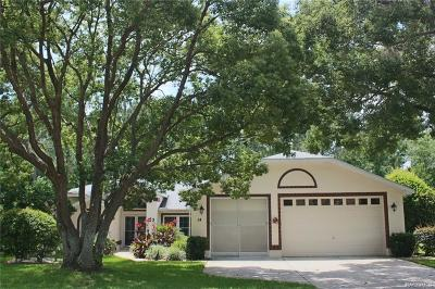 Homosassa Single Family Home For Sale: 14 Linder Circle
