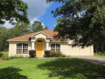 Citrus Springs Single Family Home For Sale: 7122 N Dunlap Terrace