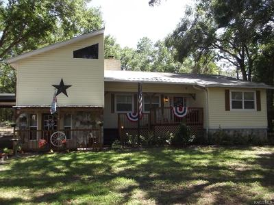 Dunnellon Single Family Home For Sale: 7346 W Dunklin Street