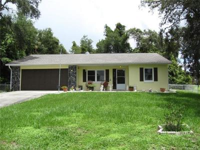 Homosassa Single Family Home For Sale: 835 S Rosemary Point