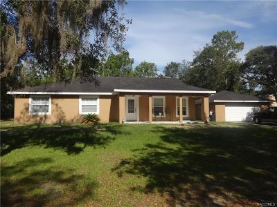 Homosassa Single Family Home For Sale: 2626 S Columbine Avenue