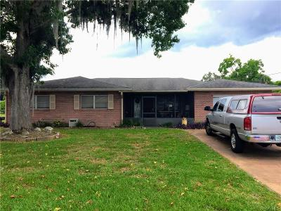 Citrus County Single Family Home For Sale: 3 S Lunar Terrace