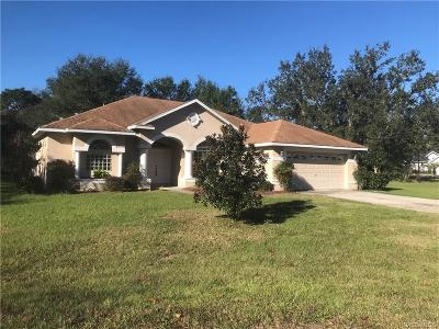 Citrus County Single Family Home For Sale: 2 Woodlee Court S