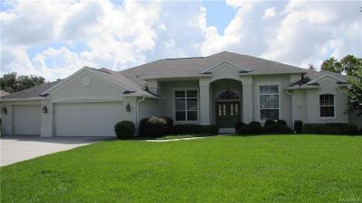 Homosassa Single Family Home For Sale: 37 Dahlia Court N