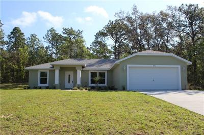 Citrus Springs Single Family Home For Sale: 7019 N Foxdale Drive