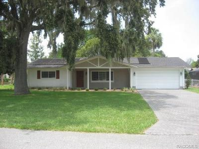 Homosassa Single Family Home For Sale: 11775 W Valley Spring Lane