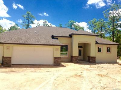 Homosassa Single Family Home For Sale: 10 Pawpaw Court N