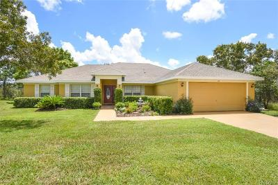 Homosassa Single Family Home For Sale: 30 Dahlia Court S