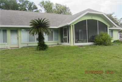 Crystal River Single Family Home For Sale: 2011 NW 17th Street