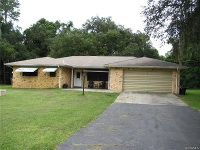 Levy County Single Family Home For Sale: 19249 SE Butler Road