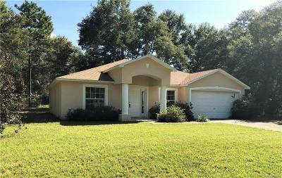 Citrus Springs Single Family Home For Sale: 10785 N Didiscus Drive