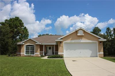Citrus Springs Single Family Home For Sale: 2575 W Paragon Lane