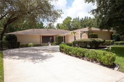 Homosassa Single Family Home For Sale: 21 Jungleplum Court E