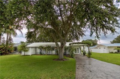 Homosassa Single Family Home Sold: 4145 S Roosevelt Point