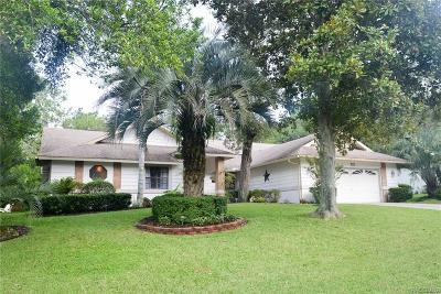 Sugarmill Woods Single Family Home For Sale: 6 Longleaf Court