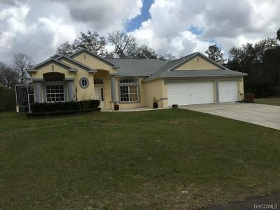 Citrus Springs Single Family Home For Sale: 7111 N Adford Terrace