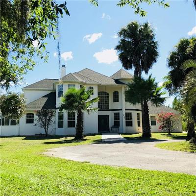 Crystal River Single Family Home For Sale: 7731 W Maryland Road