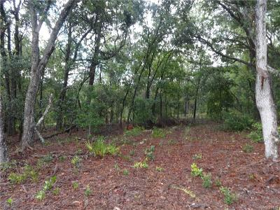 Beverly Hills Residential Lots & Land For Sale: 2579 W Pine Ridge Boulevard