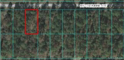 Dunnellon Residential Lots & Land For Sale: 00 NW 00 NW Columbine Avenue
