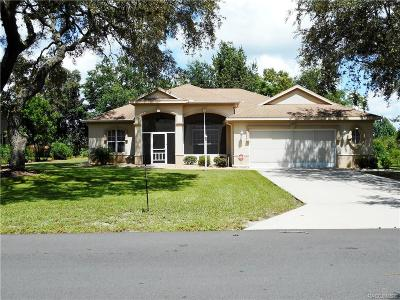 Lecanto Single Family Home For Sale: 2456 N Brentwood Circle
