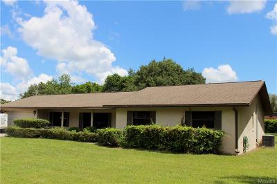 Crystal River Single Family Home For Sale: 419 N Michaelmas Terrace