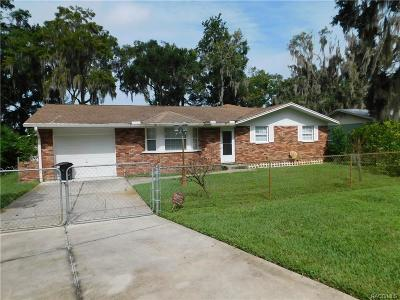 Crystal River Single Family Home For Sale: 7931 W Riverbend Road