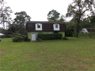 Lecanto FL Single Family Home For Sale: $158,000