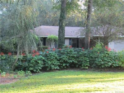 Hernando FL Single Family Home For Sale: $222,000